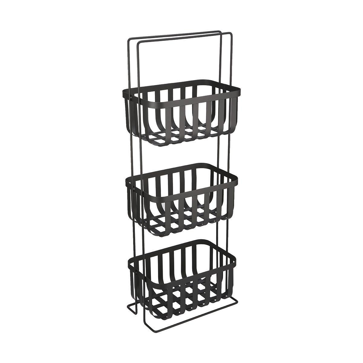 3 Tier Wire Floor Caddy - Black | Kmart | Organization | Pinterest ...