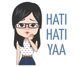 New Funny Urdu  Jelita is an attractive girl who has a long distance relationship. Use this second sticker set for share your good day with your loved one :) 9