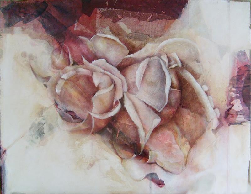 Elvira Amrhein 1957 L Ange Rebelle Art Flower Painting Artist