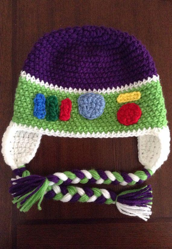 6d20b8692 Buzz Lightyear inspired crochet hat face or by MelissasCrochetart ...