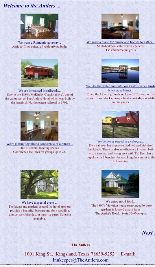 The Antlers Hotel In Kingsland Tx Texas Hill Country Stay A Caboose Converted