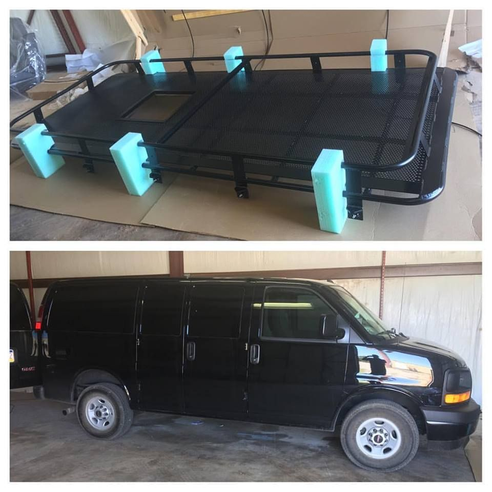Aluminess Roof Rack Delivered And Ready To Install On This GMC Van. It Will  Make