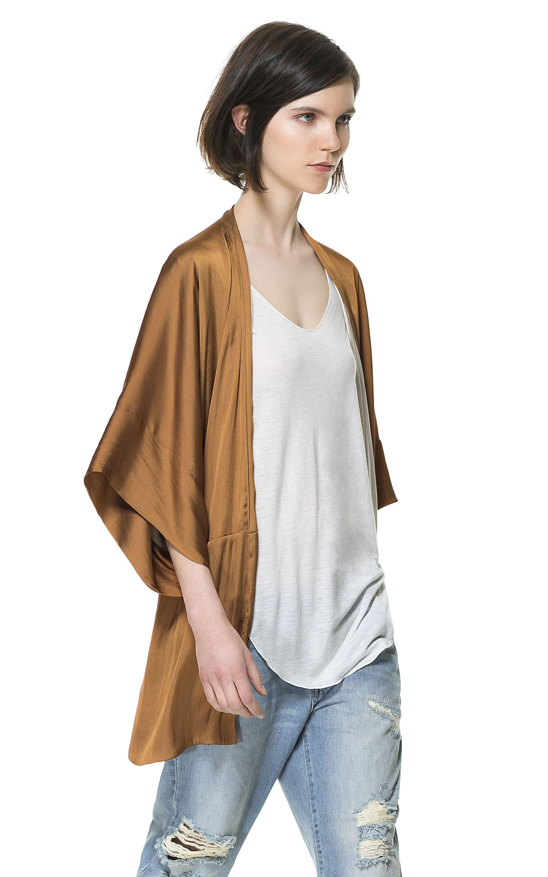 KIMONO FLUIDO CON PLIEGUES - ZARA | Outfits&Looks | Pinterest | Zara ...
