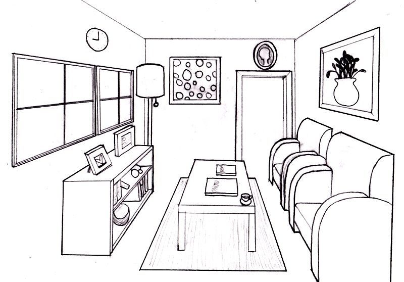 Dream Room In 1 Point Perspective   Lessons   TES Teach Part 96