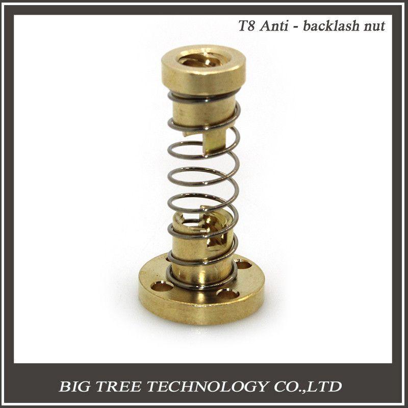 Rod T8 Anti Backlash Nut Spring Loaded Screws 3D Printer Parts Elimination Gap