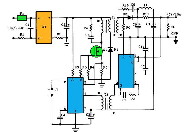 5v 10a Current Output Switching Power Supply Switched Mode Power Supply Power Supply Circuit Electronics Circuit