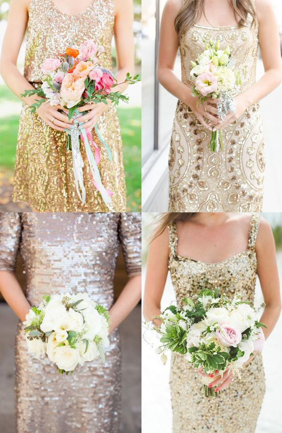 Frock Flowers Gold Dress White Bouquet Gold Sparkly
