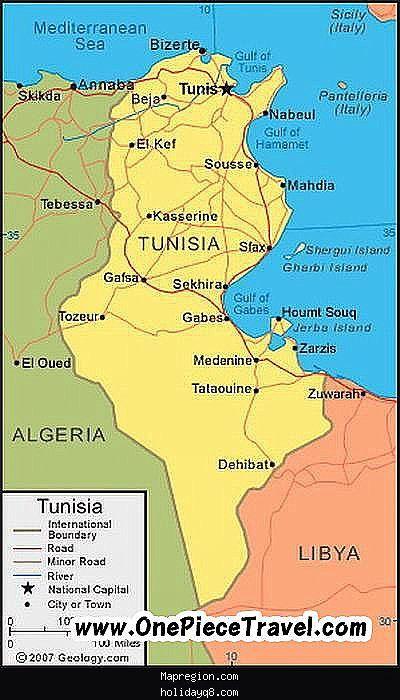 Tunisia Map Tourist Attractions httpholidayq8comtunisiamap