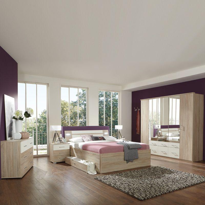 Schlafzimmerset 5-tlg »MODEO« Eiche sägerau, alpinweiß Jetzt - günstige komplett schlafzimmer