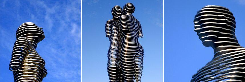 Ali And Nino Batumi Steel Sculpture Sculpture Western Sculpture