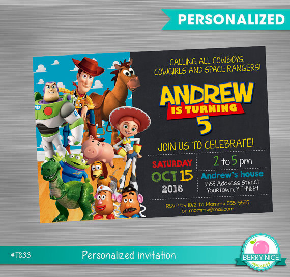 Toy Story Invitation Diy Toy Story Toy Story Printable