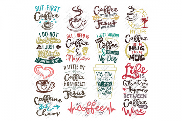 Coffee Svg Bundle In Svg Dxf Png Jpeg Eps In 2020 Coffee Svg Svg Quotes Eps