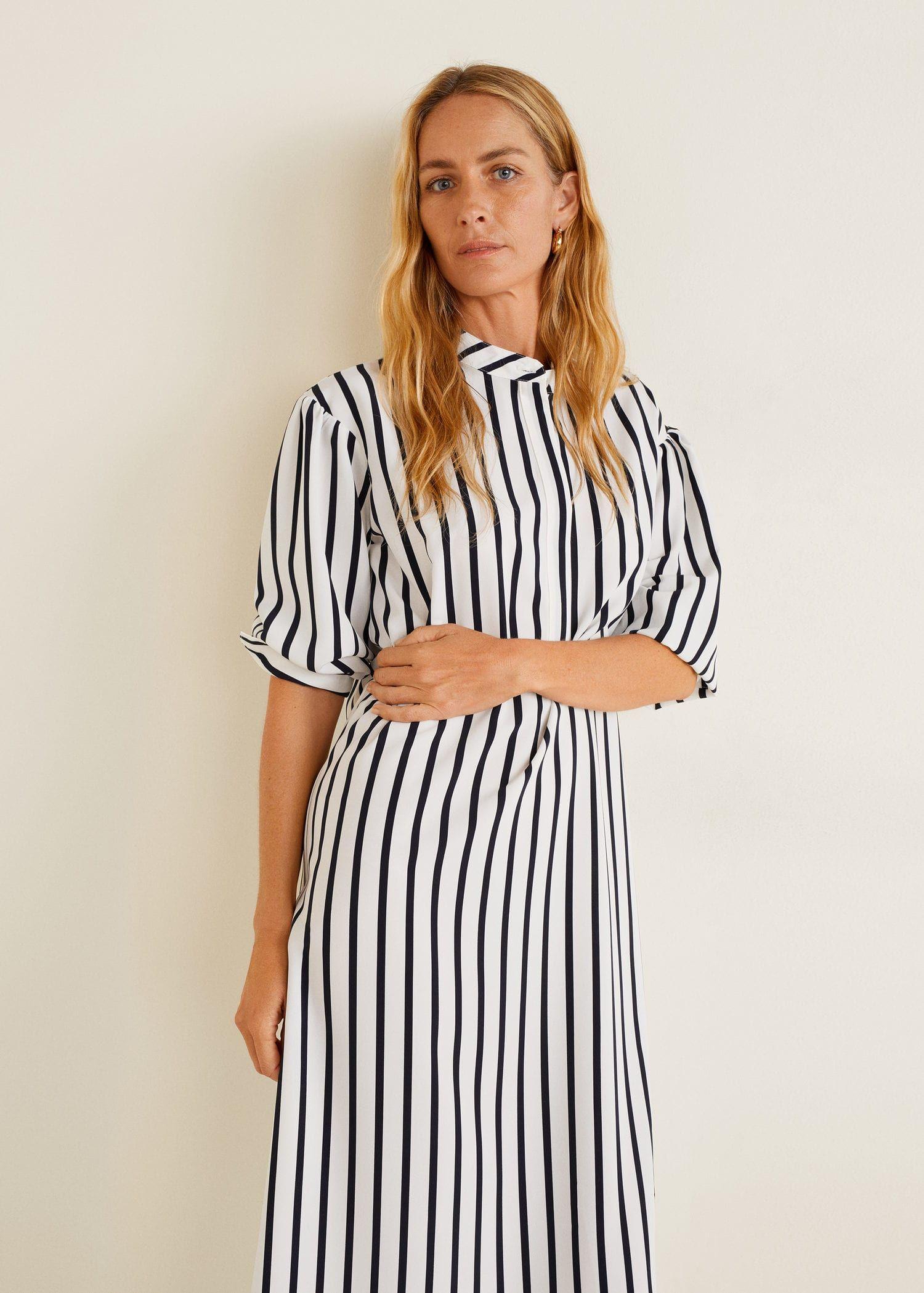 797f47ff70b7 Striped dress - Women in 2019   ZM   Striped shirt dress, Dresses ...