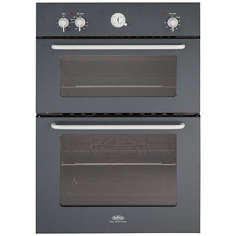 belling by sebastian conran double electric oven black. Black Bedroom Furniture Sets. Home Design Ideas