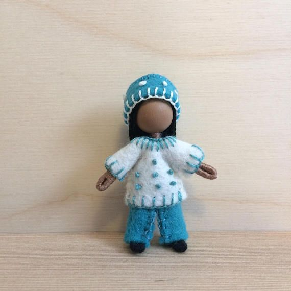 Annie Multicultural doll Dollhouse doll Miniature doll | Wee Bendy ...