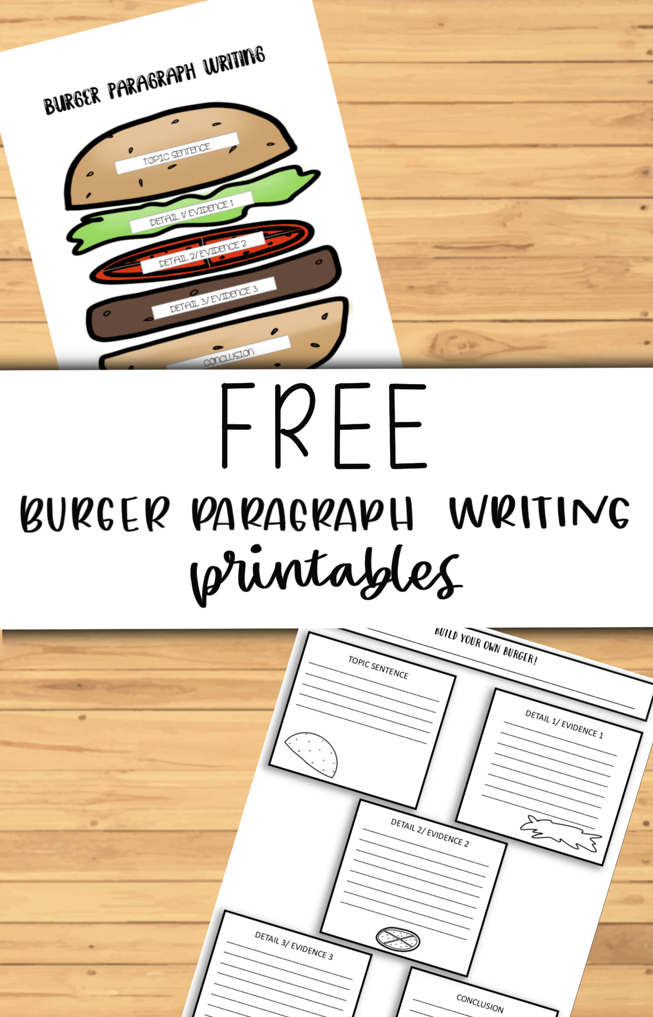Free Burger Paragraph Writing Printables Writing Printables Paragraph Writing Creative Worksheets [ 2043 x 1313 Pixel ]