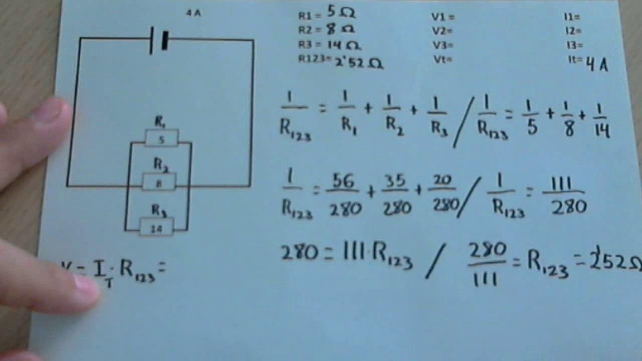 Circuito Paralelo : Resolver un circuito en paralelo intensidad voltaje y