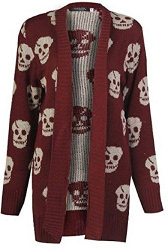 Miss High Street Skull Print Open Knitted Cardigsn (S/M-(US6/8) (UK8-10), Wine) Miss High Street http://www.amazon.com/dp/B00O4CQHT8/ref=cm_sw_r_pi_dp_KP01vb1MB8JEN