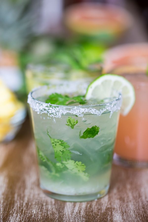 Pinterest Flavor Report: Herbs get creative; Cilantro margarita.