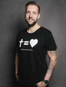 T-Shirts - Kors = Hjärta #hillsongsthlm