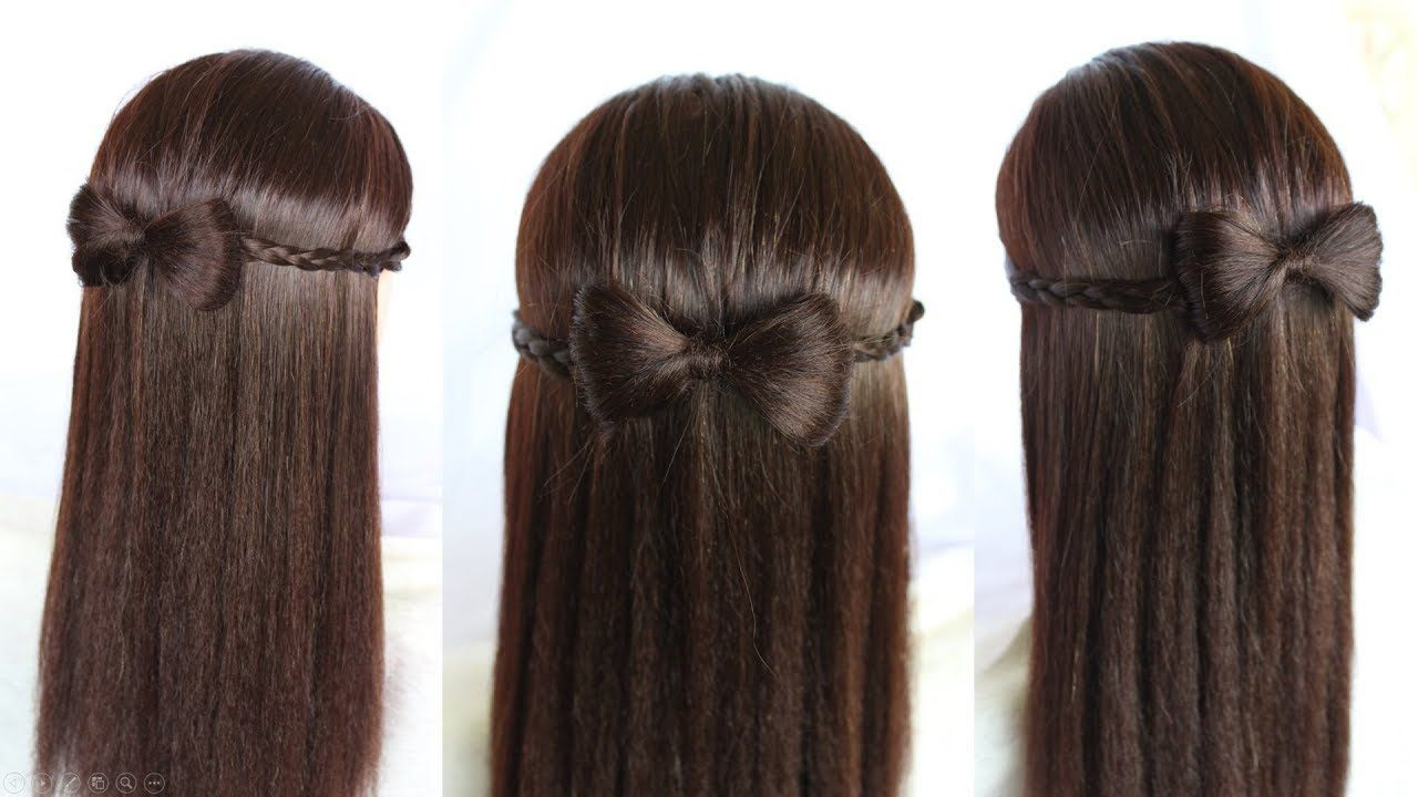 Hairstyle For Girls Bow How To Make Hair Bows Headband Hairstyle Simple Hairstyle Bow Headband Hairstyles Headband Hairstyles Easy Hairstyles