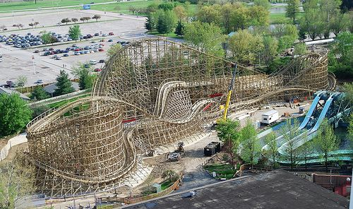 American Thunder Roller Coaster At Six Flags Over Midamerica Near St Louis Mo Used To Be Known As The Evil Knievel Roller Coaster Six Flags Photo