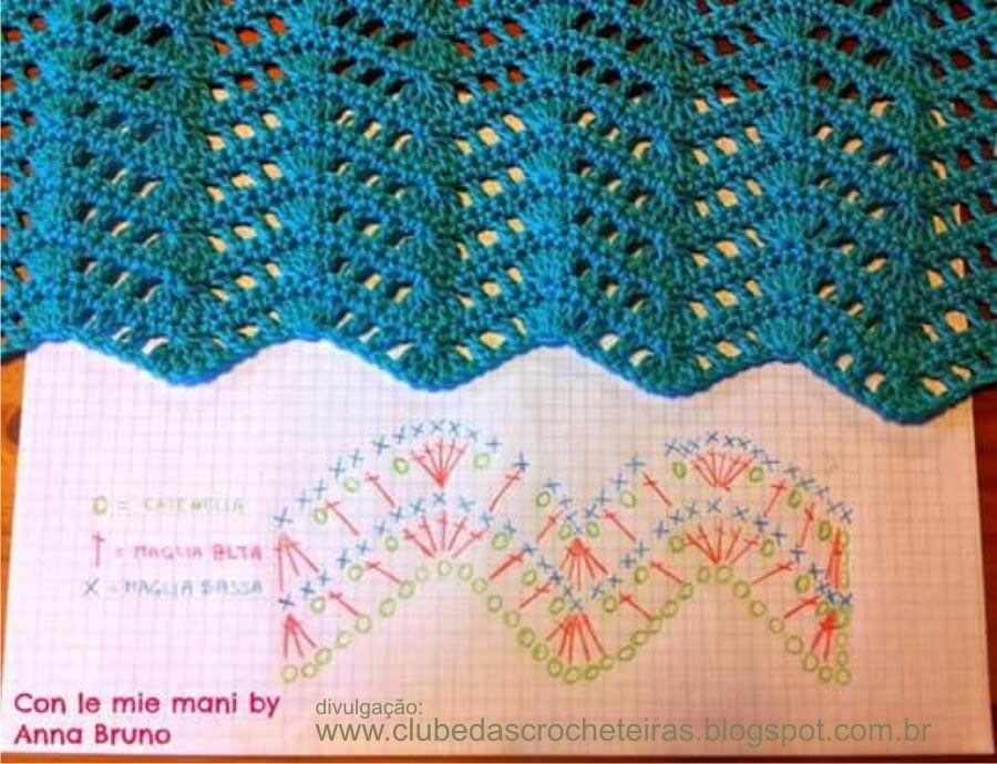 PONTO ZIG ZAG | Crochet, Crochet stitches and Stitch