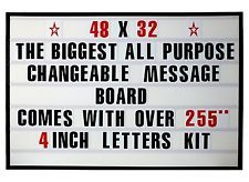4 Big Changeable Letter Message Sign Menu Price Marquee Reader Board Changeable Letter Signs Lettering Messages