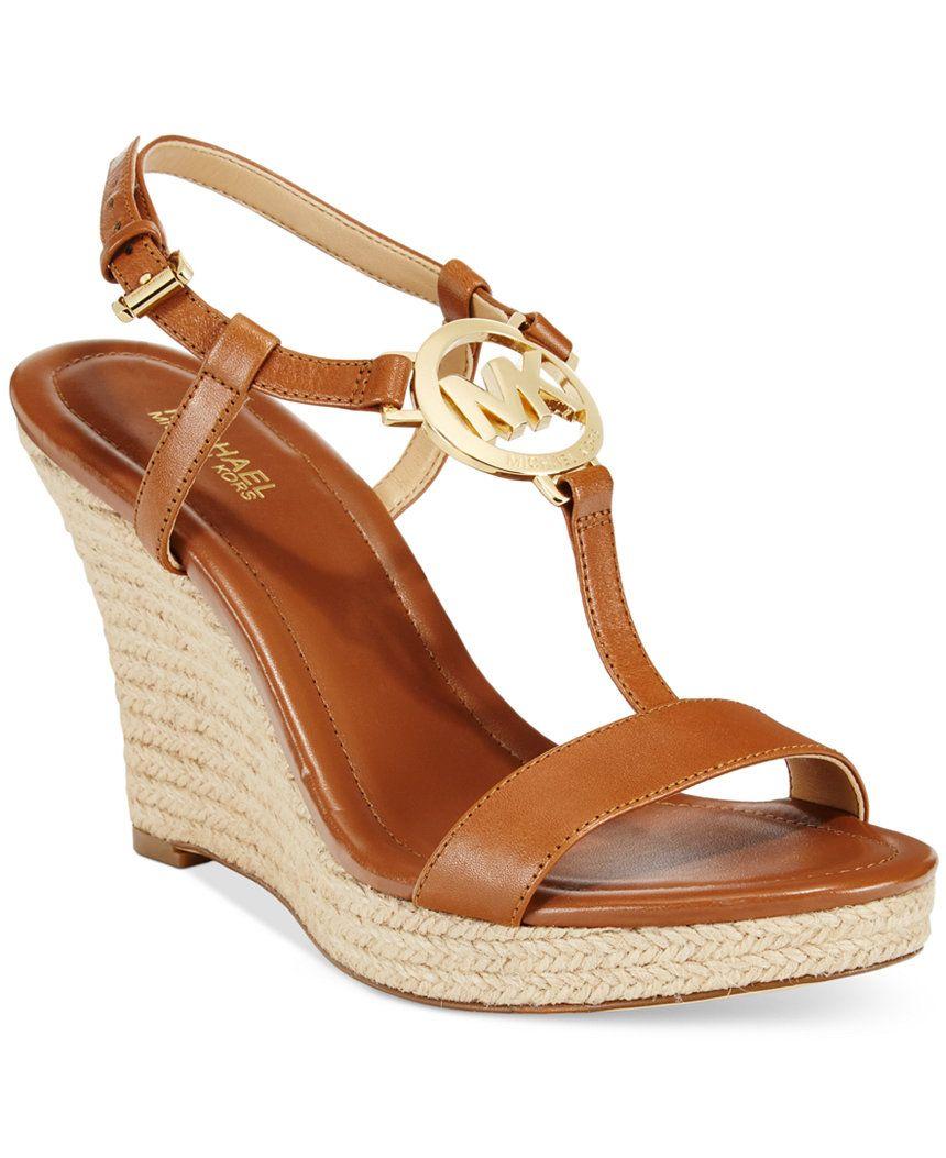 MICHAEL Michael Kors Tania Espadrille Wedge Sandals - Michael Kors Wedges -  Shoes - Macy's - MICHAEL Michael Kors Tania Espadrille Wedge Sandals - Michael Kors