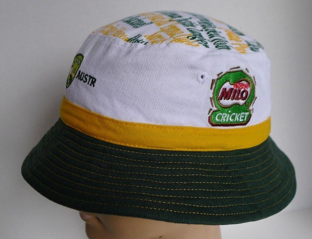 Cricket Australia Bucket Hat Nestle Milo Team Members 100 Cotton Size L Xl Bucket Hat Hats Cricket