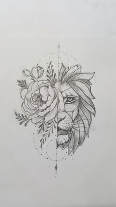 Lion Tattoo Tekenen Roze Tatoeages Tatoeage Ideeën En