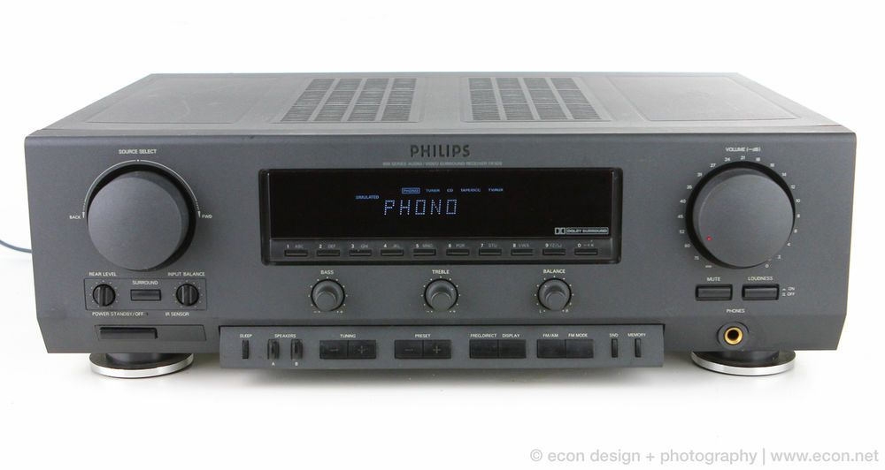PHILIPS FR-920 STEREO AV RECEIVER MINT CONDITION 90 WATT PHONO TURNTABLE READY  #PHILIPS