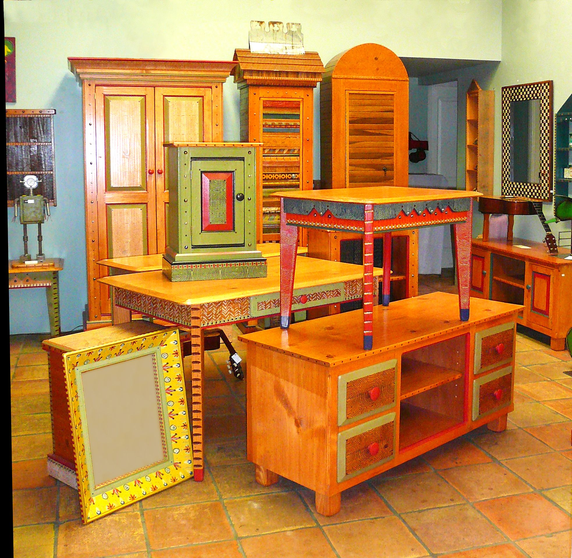 David Marsh Pine Furniture At Human Arts Gallery In Ojai, California.  Www.humanartsgallery