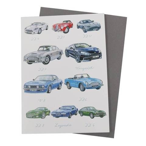 CLASSIC CAR GREETING CARDS ASTON MARTIN