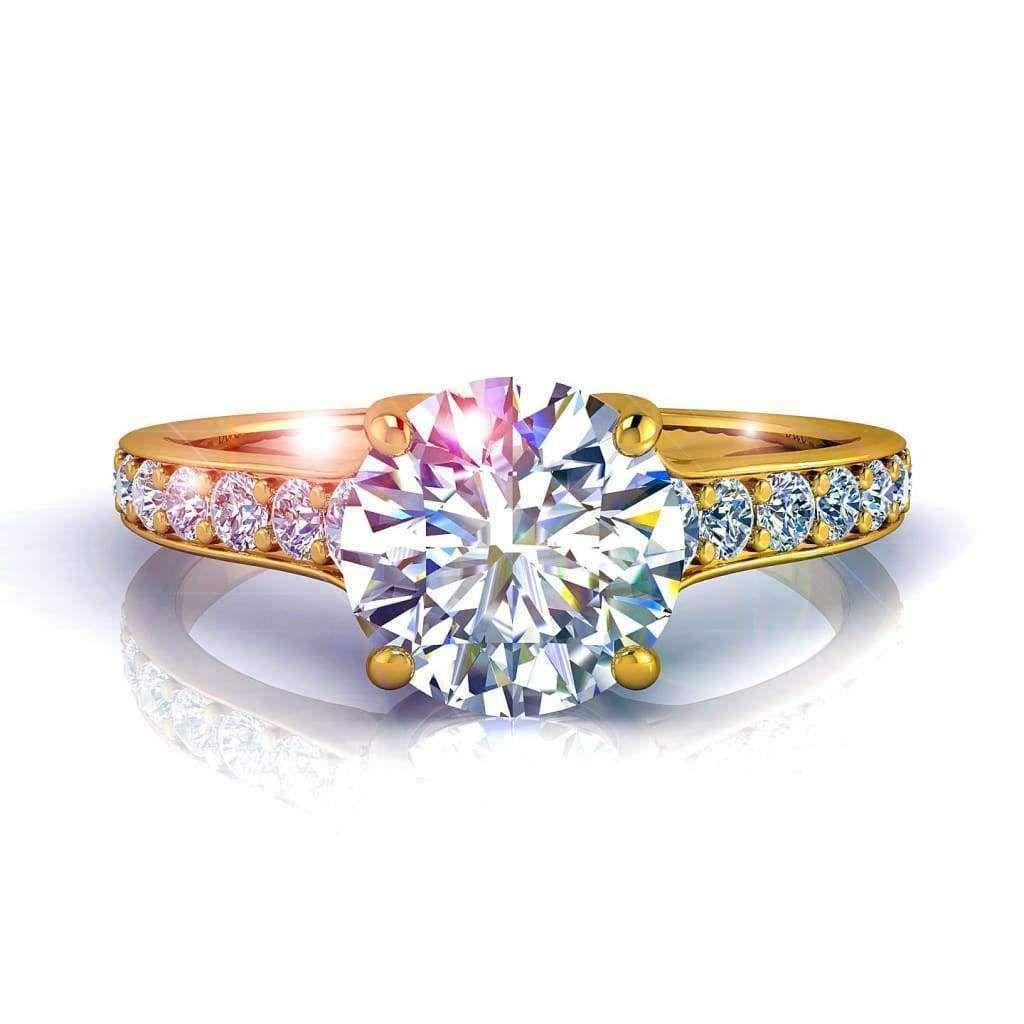 bague solitaire diamant creation