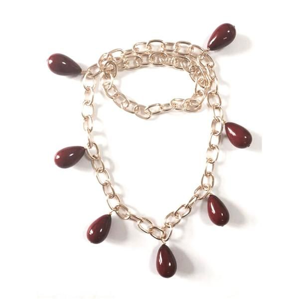 Chunky Chain Dangle Beads Necklace