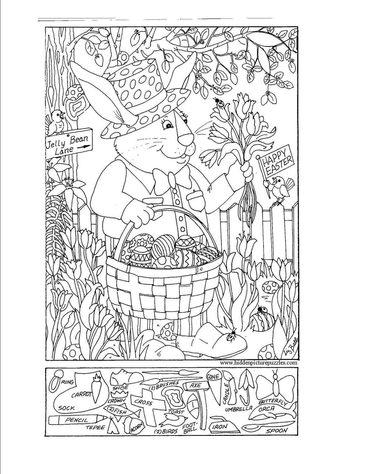 free hidden coloring pages - photo#27