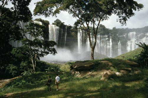 Duque de Bragança Falls, Angola.