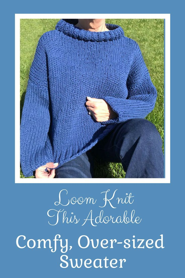 Ever want to loom knit a sweater? Here you go! Easy to ...