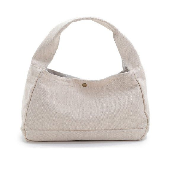 Canvas Handbag White Tote Bag Small Diaper