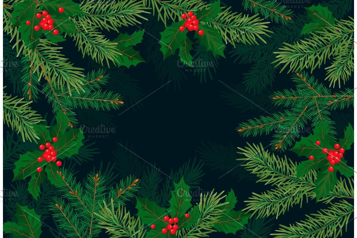 Christmas Tree Branches Background Christmas Tree Branches Tree Branches Christmas Tree