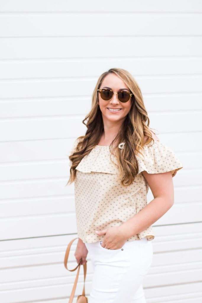 2cb5ec39d92d Fashion blogger Samantha Bigley of The Heart of the House sharing  Embellished Pearl Accent Steve Madden Jole Sandals