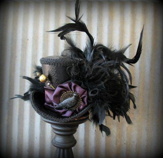 Mad Hatter Style Steampunk White Bridal Mini Top Hat Fancy Dress Halloween