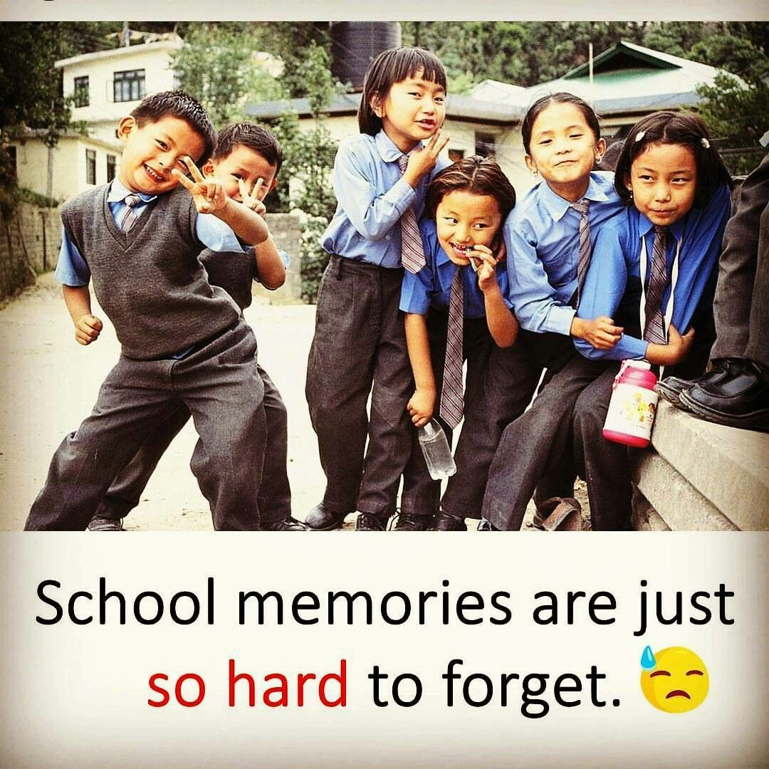 but yet i am in school   Childhood memories quotes, School memories, School  days quotes