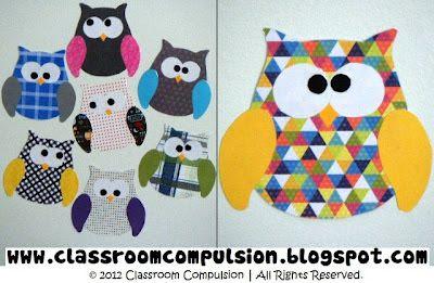Classroom Compulsão: corujas, corujas em toda parte!