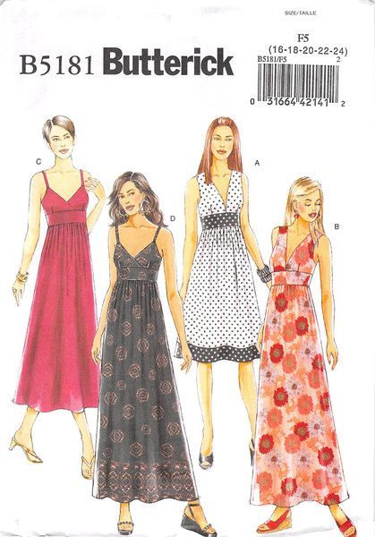 Butterick 5181 - uncut - misses dress | Bodice, Ankle and Fashion