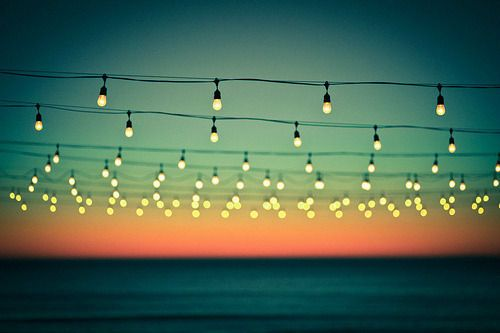I Love Having A Blanket Of Fairy Lights Above You Like Sky Full Stars Every Outdoor Party Meal Gathering Should Have Them Hanging