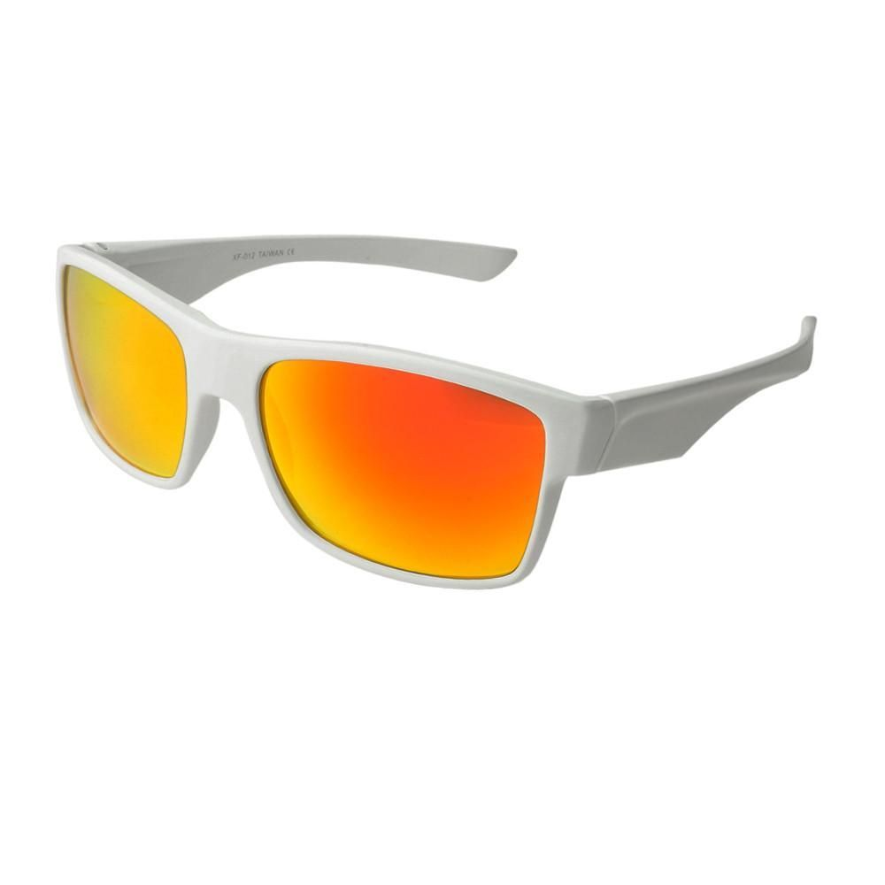 Mens Mirror Lens White Sport Sunglasses S07