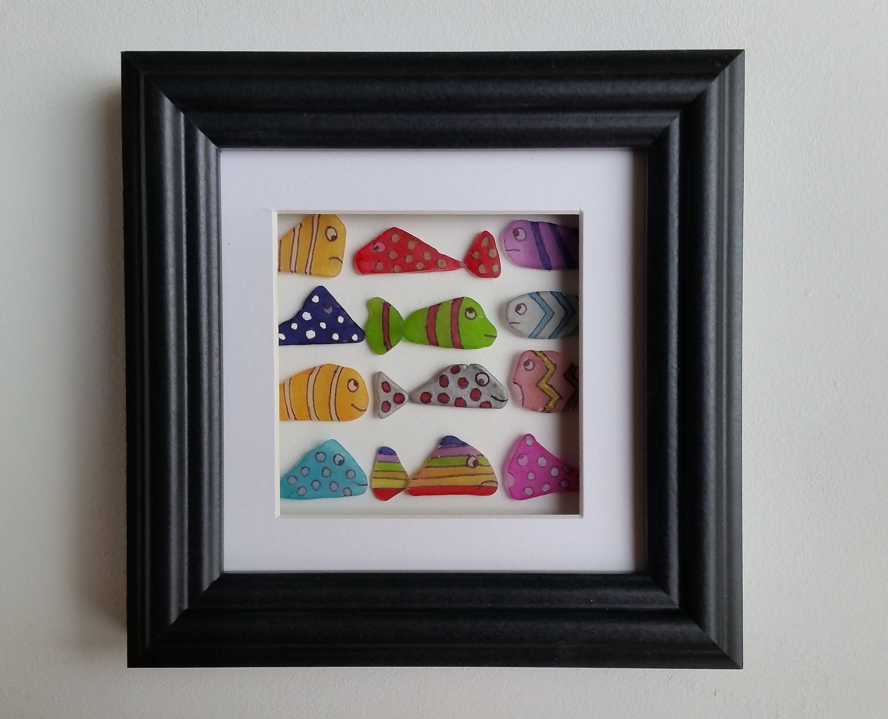 Colourfully Painted Sea Glass Fish Cornish Gifts Made in