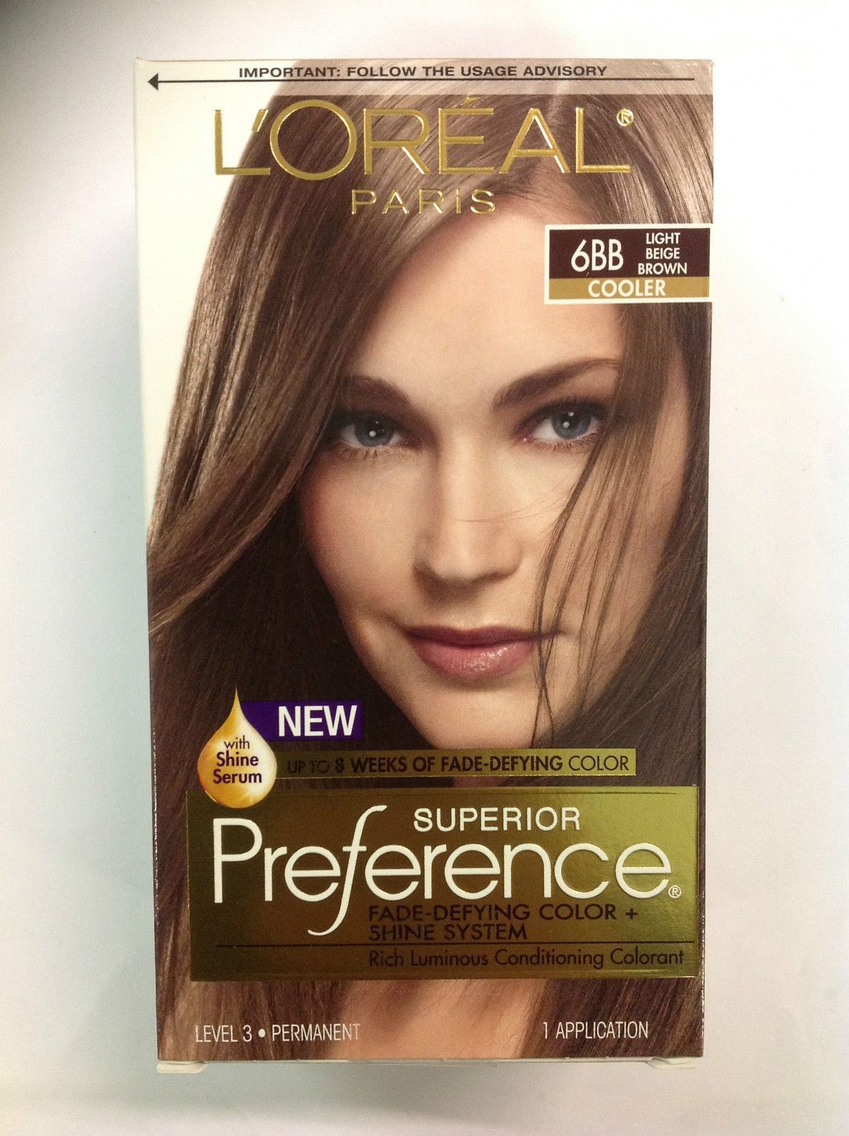 L Oreal Paris Superior Preference 6bb Light Beige Brown Hair Color Light Brown Brown Hair With Caramel Highlights Light Box Hair Dye